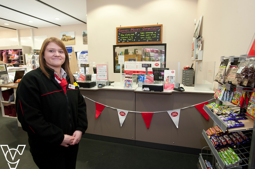 Pictured is postmaster Anna Bloom<br /> <br /> Stowupland Post Office, Walnut Tree Farm, Rendall Lane, Stowupland.<br /> <br /> Date: February 23, 2015
