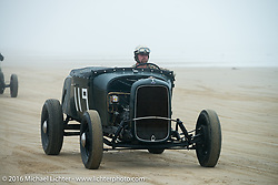 Corey  Swenson in his 1929 Ford Roadster at TROG West - The Race of Gentlemen. Pismo Beach, CA, USA. Saturday October 15, 2016. Photography ©2016 Michael Lichter.