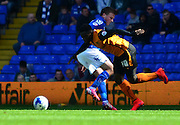 Bakary Sakho on the attack during the Sky Bet Championship match between Birmingham City and Wolverhampton Wanderers at St Andrews, Birmingham, England on 11 April 2015. Photo by Alan Franklin.