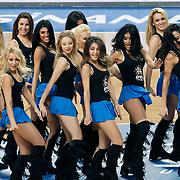 Anadolu Efes's show girls during their Turkish Basketball League match Anadolu Efes between Mersin BSB at Sinan Erdem Arena in Istanbul, Turkey, Saturday, January 14, 2012. Photo by TURKPIX