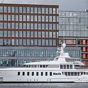 NLD/Amsterdam/20120710 - Jacht Harle bezoekt Amsterdam voor 3 dagen, dit jacht gebouwd in 2007 is te huur voor 250.000 euro per week,