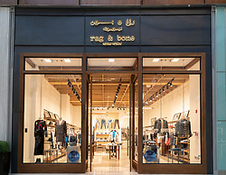 Rag & Bone boutique at Dubai Mall Fashion Avenue , Downtown Dubai, United Arab Emirates