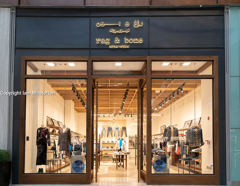 Rag & Bone boutique at Dubai Mall Fashion Avenue , Downtown Dubai, United Arab Emirates