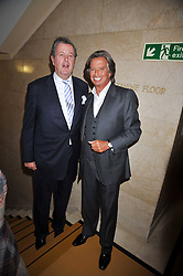 Left to right, LORD CHARLES SPENCER-CHURCHILL and RICHARD CARING at the opeing of Green's Restaurant & Oyster Bar, 14 Cornhill, London EC3 on 1st September 2009.