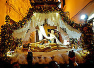 The statue of the dead Christ closes the procession of the Passion