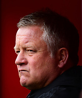 Sheffield United manager Chris Wilder during the pre-match warm-up<br /> <br /> Photographer Chris Vaughan/CameraSport<br /> <br /> The EFL Sky Bet Championship - Sheffield United v Preston North End - Saturday 28th April 2018 - Bramall Lane - Sheffield<br /> <br /> World Copyright © 2018 CameraSport. All rights reserved. 43 Linden Ave. Countesthorpe. Leicester. England. LE8 5PG - Tel: +44 (0) 116 277 4147 - admin@camerasport.com - www.camerasport.com