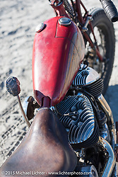 Go Takamine's custom Indian Chief Born Free bike at The Race of Gentlemen. Wildwood, NJ, USA. October 11, 2015.  Photography ©2015 Michael Lichter.