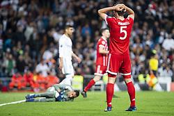 May 1, 2018 - Madrid, Spain - Real Madrid Keylor Navas and Bayern Munich Mats Hummels during Semi Finals UEFA Champions League match between Real Madrid and Bayern Munich at Santiago Bernabeu Stadium in Madrid, Spain. May 01, 2018. (Credit Image: © Coolmedia/NurPhoto via ZUMA Press)