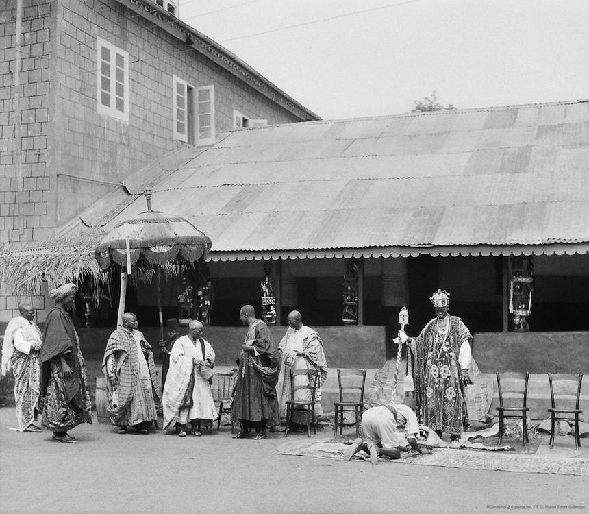Ministers Take Their Seat with Alake, Abeokuta, Nigeria, Africa, 1937
