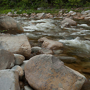 The Swift River flows through the White Mountain National Forest in New Hampshire