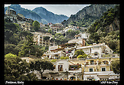 Houses are built into the sides of the Positano.