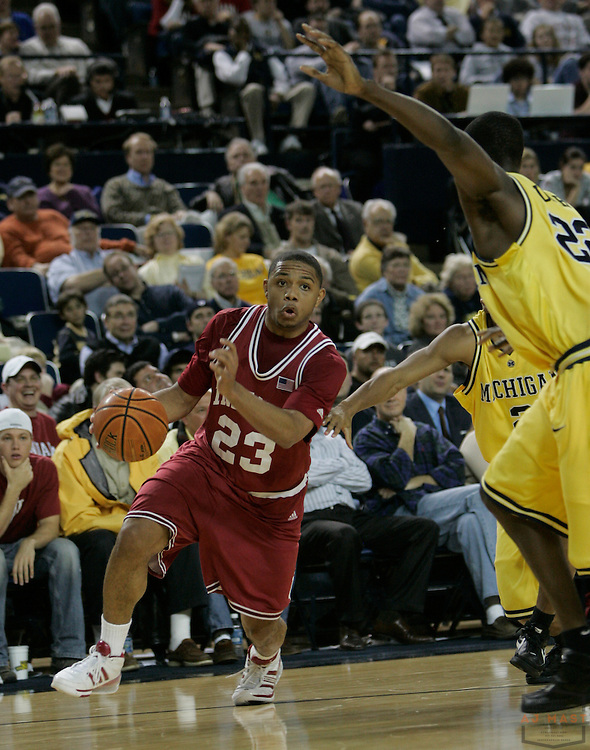 08 January 2008: Indiana guard Eric Gordon (23) as the Indiana Hoosiers played the Michigan Wolverines in a college basketball game in Ann Arbor, Mich.