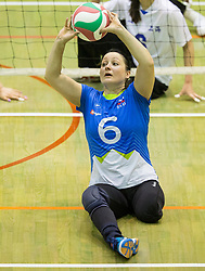 Suzana Ocepek of Slovenia during friendly Sitting Volleyball match between National teams of Slovenia and China, on October 22, 2017 in Sempeter pri Zalcu, Slovenia. (Photo by Vid Ponikvar / Sportida)