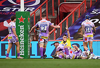 Rugby Union - 2019 / 2020 Heineken Cup - Final - Exeter Chiefs vs Racing 92 - Ashton Gate, Bristol<br /> <br /> Referee Nigel Owens awards Exeter Chiefs' Harry Williams their third try.<br /> <br /> COLORSPORT/ASHLEY WESTERN