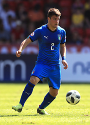 Italy U17's Alberto Barazzetta during the UEFA European U17 Championship, Group A match at Banks's Stadium, Walsall. PRESS ASSOCIATION Photo. Picture date: Monday May 7, 2018. See PA story SOCCER England U17. Photo credit should read: Mike Egerton/PA Wire. RESTRICTIONS: Editorial use only. No commercial use.