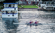 Henley Royal Regatta, Henley on Thames, Oxfordshire, 28 June - 2 July 2017.  Thursday  19:29:25   29/06/2017  [Mandatory Credit/Intersport Images]<br /> <br /> Rowing, Henley Reach, Henley Royal Regatta.<br /> <br /> The Double Sculls Challenge Cup<br />  S.J. Woodfine & H. Bond (Vesta Rowing Club)
