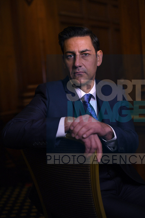 Former professional football player Andy Woodward at the launch of the Offside Trust at the Midland Hotel in Manchester. The Offside Trust has been formed as an independent trust to support players and their families who have suffered from abuse. Picture date: December 5th, 2016. Pic Simon Bellis/Sportimage