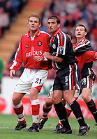 Jonatan Johansson (Charlton) Gianluva Festa (Middlesbrough) Charlton Athletic v Middlesbrough, FA Premiership, 21/10/2000. Credit: Colorsport / Nick Kidd