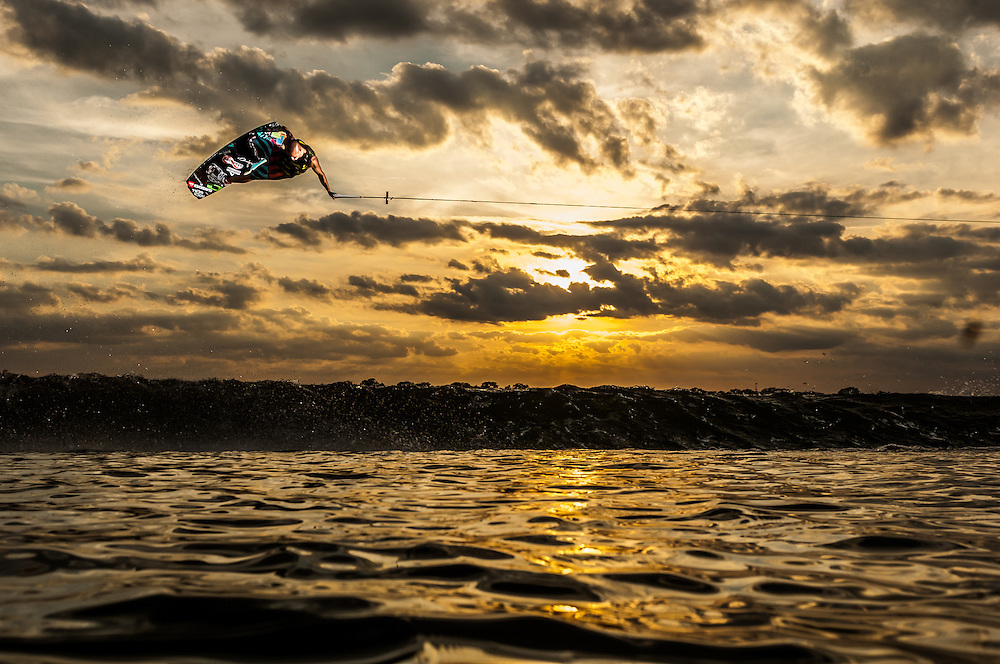 Clayton Underwood shot for Unleashed Wakeboard Magazine in Clermont, Florida.