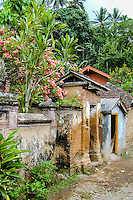 Bali, Karangasem, Tenganan. A traditional Bali Aga village. The buildings are mainly built of bricks and stone.