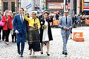 Koningsdag 2018 in Groningen / Kingsday 2018 in Groningen.<br /> <br /> Op de foto: Prins Bernhard en Prinses Annette met Prins Bernhard en Prinses Annette