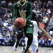 Courtney Williams, USF, in action during the UConn Huskies Vs USF Bulls 2016 American Athletic Conference Championships Final. Mohegan Sun Arena, Uncasville, Connecticut, USA. 7th March 2016. Photo Tim Clayton