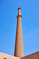 Iran, province d'Ispahan, Ispahan, Mosquee Ali, Grand Minaret, classée Patrimoine Mondial de l'UNESCO // Iran, Isfahan, Ali mosque, tall minaret