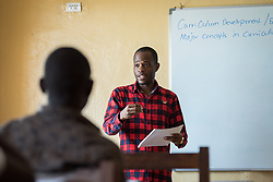 2 November 2019, Ganta, Liberia:  Falaku M. Kromah teaches nursing student at the United Methodist Univeristy campus. Located in Nimba county, the Ganta United Methodist Hospital serves tens of thousands of patients each year. It is a founding member of the Christian Health Association of Liberia.