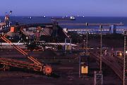 Vitoria_ES, Brasil... Porto de Tubarao, em Vitoria, o maior exportador de minerio de ferro do mundo...The Tubarao Port, in Victoria, the largest exporter of iron ore in the world...Foto: BRUNO MAGALHAES / NITRO