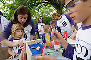 Nicor Inc. employees and their families attend the company's 14th annual Volunteer Day at Brookfield Zoo in Brookfield, Il. on Saturday, May 15, 2010. Participants assembled and painted birdhouses and enjoyed a tour of the zoo while learning about the benefits of volunteering time in their communities.