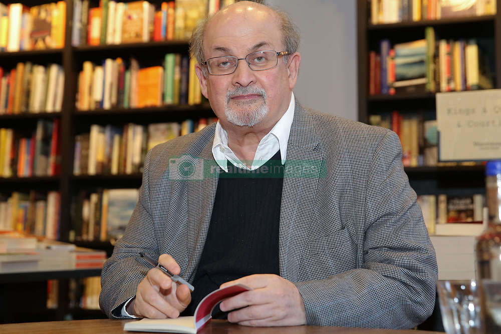 June 6, 2017 - London, London, United Kingdom - Image ©Licensed to i-Images Picture Agency. 06/06/2017. London, United Kingdom. Salman Rushdie Book signing. .Salman Rushdie a British Indian novelist signs copies of Home, the latest title in Vintage Minis series at Waterstones, London..Picture by Dinendra Haria / i-Images (Credit Image: © Dinendra Haria/i-Images via ZUMA Press)