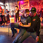 Eric and Roseann Skroch of Minnesota dance in front of the stage at Johnny Cash's Kitchen and Saloon in downtown Nashville, Tennessee. Nathan Lambrecht/Journal Communications