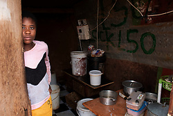 April 29, 2020, Johannesburg, Gauteng, South Africa: Sabonjel Zhanje 21 a Zimbabwean National living in  Itireleng Squatter Camp  Pretoria South Africa don't have any food as she stand at her kitchen. I'm Sabonjel Zhanje 21 a Zimbabwean National  came to South Africa since 3 years for better future   and I'm unemployed living with two children and we are really struggling for food as we  don't get  Covid 19 relief fund like food hampers or the unemployment money from South African Government unless  like many South Africans are getting it because we are foreign nationals and  there are no any measures which has been taken so far neither by South African Government nor Zimbabwean Government to save us from this lock down.  I don't have my husband and I got two kids.  My mother who works as a House maid in Pretoria west, South Africa also not working since the lock down started and it is really difficult to feed my two children, I don't have enough food. I can starve myself but I can't see my two children who are 3 and 5 years old to starve. We need help and there are Social development organizations who are only giving out hampers that got South African ID so we don't get anything from them. I'm begging for food from people to save my two children because without food,  my children will die.  If I think to go back to my country then also I can't as South African borders are closed and there is no way out.  I'm really stuck in between death and life and don't know what to do.  I beg please save my children as we are all starving here.  I request to South African Government or Zimbabwean Govt., please take care of us, we are all human otherwise we will die.  (Credit Image: © Manash Das/ZUMA Wire/ZUMAPRESS.com)
