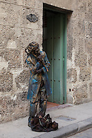 Street performers on the streets of Old Havana, Cuba.