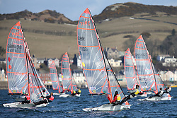 Image Credit Marc Turner.. 8, Mimi EL-KHAZINDAR, Ben BATTEN, Royal Lymington Yacht Club, 29er..Day 5, RYA Youth National Championships 2013 held at Largs Sailing Club, Scotland from the 31st March - 5th April. .