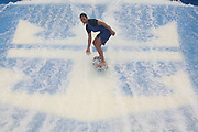 The launch of Royal Caribbean International's Oasis of the Seas, the worlds largest cruise ship..A girl on the Flowrider