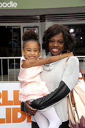 Genesis Tennon and Viola Davis during the premiere of the new movie from 20th Century Fox and Dreamworks Animation HOME, held at the Regency Village Theatre, on March 22, 2015, in Los Angeles.<br />Photo: Michael Germana Star Max