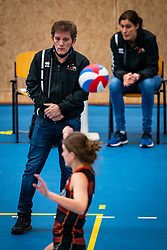 Coach Avital Selinger of Talent Team in action in the first league match in the corona lockdown between Talentteam Papendal vs. Sliedrecht Sport on January 09, 2021 in Ede.