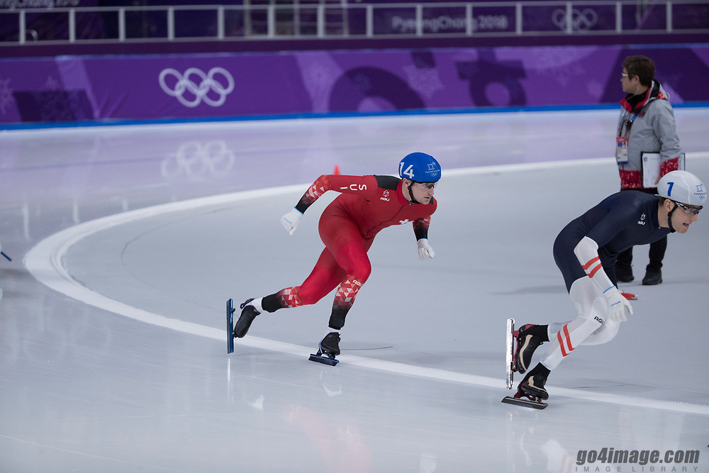 Olympic Games  PyeongChang 2018, Livio Wenger, Final day mass start 4th place in the final winner of a Olympic Diploma