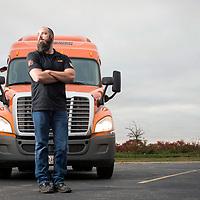 Portrait of a Schneider Trucking  driver.