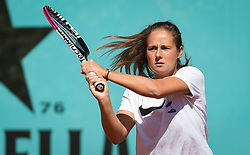 May 6, 2019 - Madrid, MADRID, SPAIN - Daria Kasatkina of Russia practices at the 2019 Mutua Madrid Open WTA Premier Mandatory tennis tournament (Credit Image: © AFP7 via ZUMA Wire)