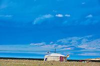 Mongolie, province de Uvs, région de l'ouest, campement près du lac Achit Nuur // Mongolia, Uvs province, western Mongolia, nomad camp near the lake Achit Nuur