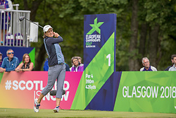 Great Britain's Catriona Matthew tees off at the 1st hole during day ten of the 2018 European Championships at Gleneagles PGA Centenary Course.