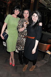 Left to right, DAWN PORTER, GRACE DENT and CAITLIN MORAN at the Baileys Spirited Women party at Cafe Royal Hotel, Regent's Street, London on 21st March 2013.