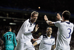 02.11.2010, White Hart Lane, London, ENG, UEFA CL, Tottenham Hotspurs vs Inter Mailand, im Bild Peter Crouch of Tottenham makes 2-0 with a Gareth Bale of Tottenham, EXPA Pictures © 2010, PhotoCredit: EXPA/ IPS/ M. Pozzetti *** ATTENTION *** UK AND FRANCE OUT!