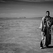 Abdul & Ismael in Lake Iriqui, Lake Iriqui, Morocco (November 2006)