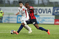 FOOTBALL - FRENCH CHAMPIONSHIP 2011/2012 - CLERMONT FOOT v CS SEDAN  - 4/05/2015 - PHOTO EDDY LEMAISTRE / DPPI - YOANN COURT  (SEDAN) AND YACOUBA SYLLA  (CFA)