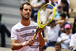 May 27, 2019 - Paris, France - France's Richard Gasquet servers a ball during hismen's singles first round match against Germany's Mischa Zverev on day two of The Roland Garros 2019 French Open tennis tournament in Paris on May 27, 2019. (Credit Image: © Ibrahim Ezzat/NurPhoto via ZUMA Press)