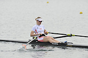 Eton, United Kingdom  GBR W1X.  Anna WATKINS at the start of the women's single sculls  time trial,  at the 2012 GB Rowing Senior Trials, Dorney Lake. Nr Windsor, Berks.  Saturday  10/03/2012  [Mandatory Credit; Peter Spurrier/Intersport-images]