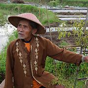 Mr. Karto Prawiro, a duck farmer in the little village of Ngargosari, Java, Indonesia.
